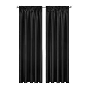 Artqueen 2x Blockout Curtains Pinch Bloc