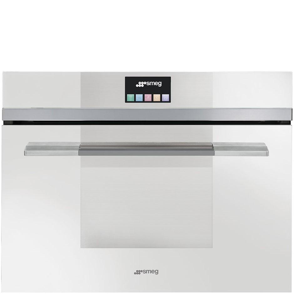 "Smeg 60cm ""Linea"" Compact Combination Steam Oven - Model SF4140VCB"