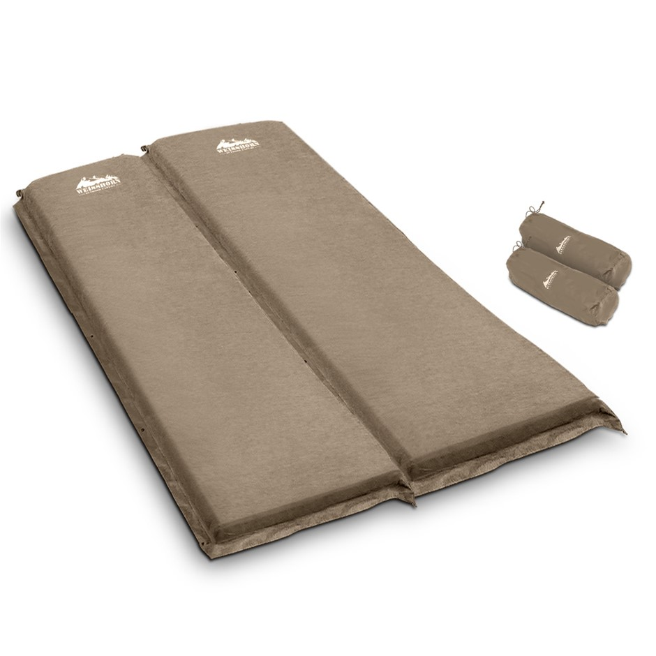 WEISSHORN Double Self inflating Mattress Mat 10CM Thick