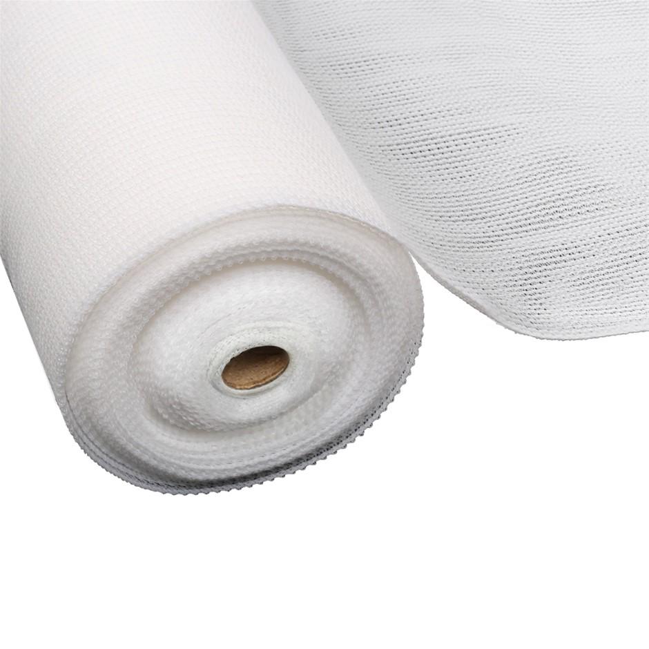 Instahut 3.66x30m 50% UV Shade Cloth Outdoor White