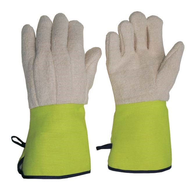 12 x Pairs Flame Resistant Cotton Terry Cord Gloves, Size L, Jersey Lined,