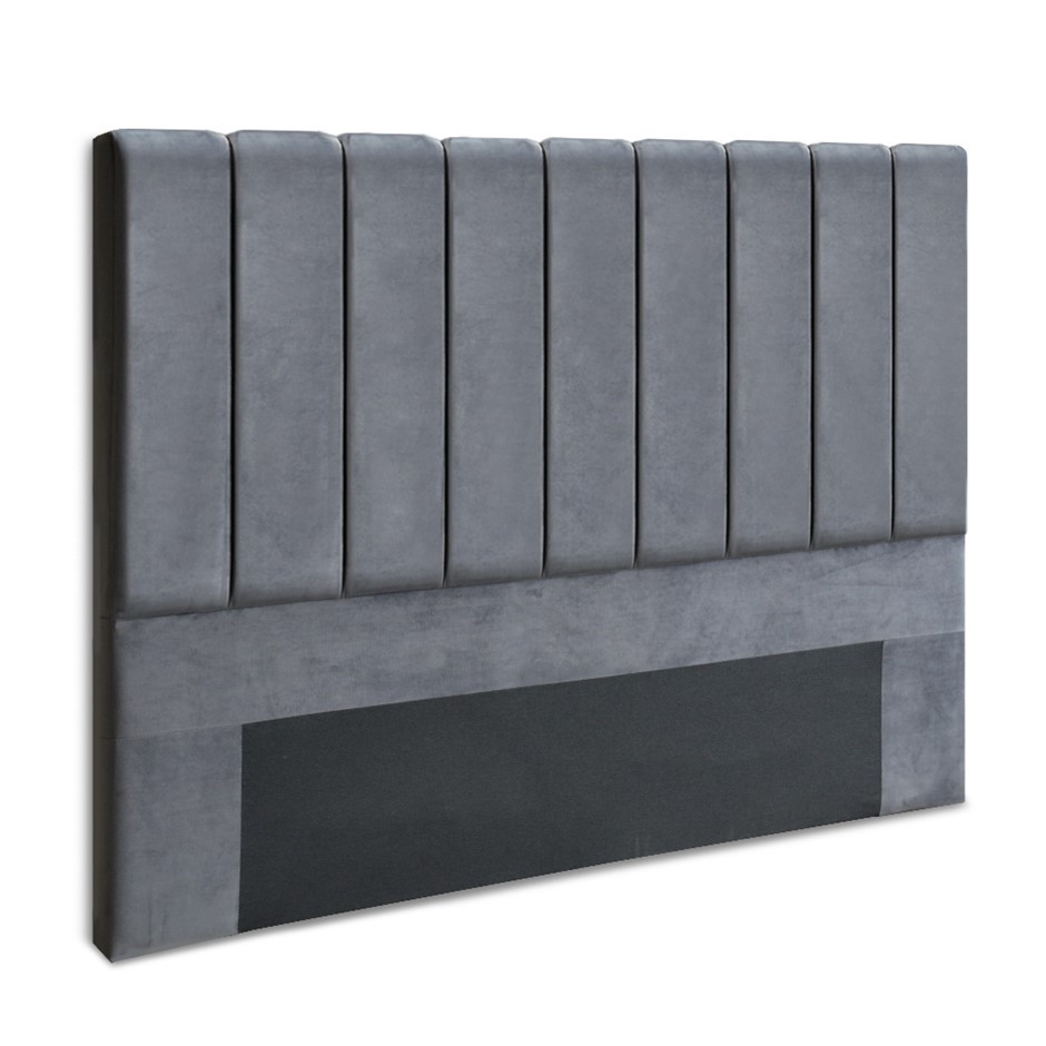 Artiss King Size Fabric Bed Headboard - Charcoal