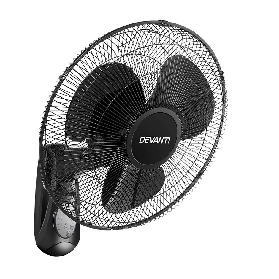 Devanti 40cm Wall Mountable Fan - Black