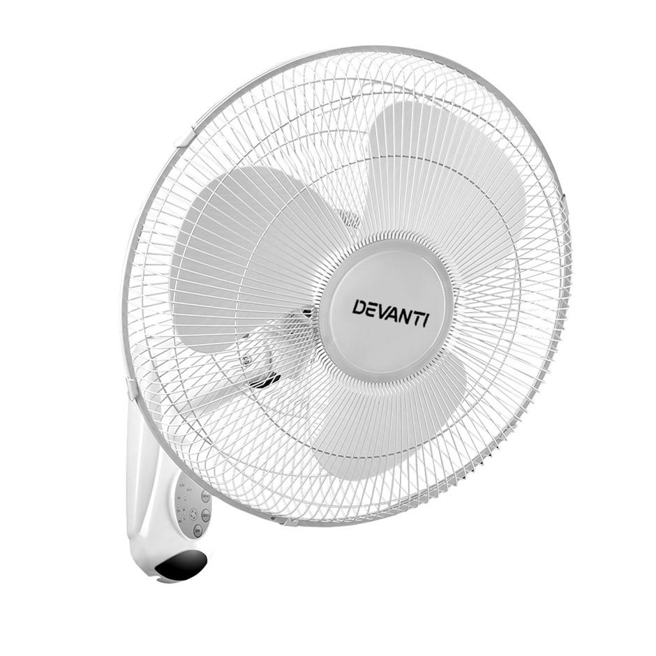Devanti Wall Mounted Fan - White