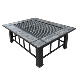 Grillz Outdoor Fire Pit BBQ Table Grill