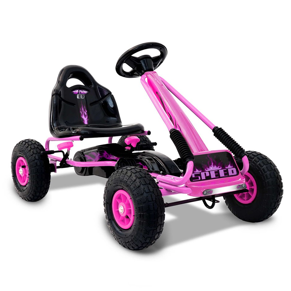 Rigo Kids Padel Powered Go Kart - Pink