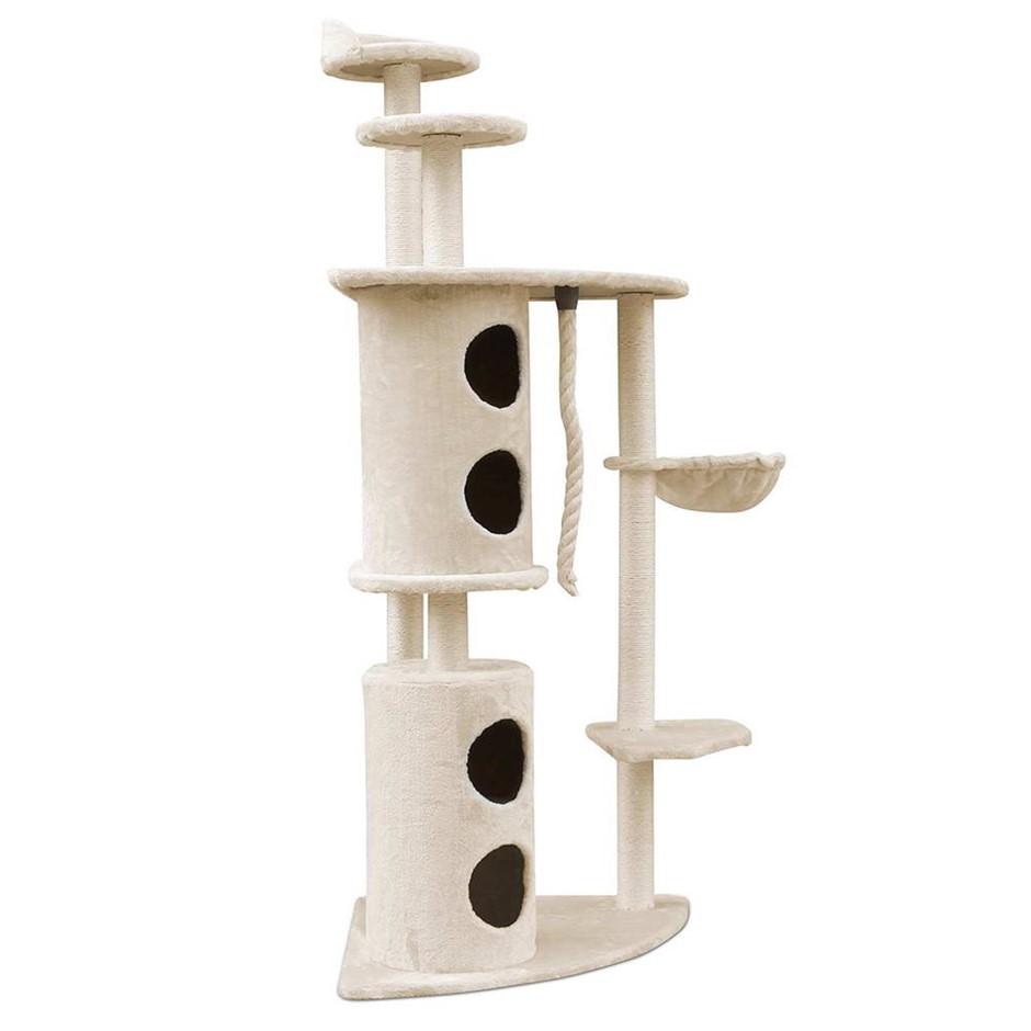 i.Pet 170cm Multi Level Cat Scratching Post - Beige