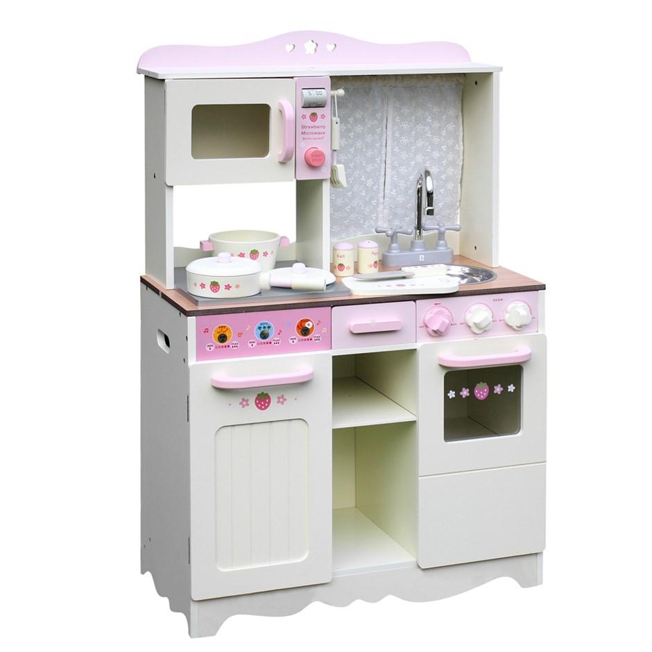 Keezi Kids Kitchen Play Set - Off White