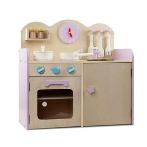 Keezi Kids Wooden Kitchen Play Set - Nat