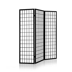 Artiss 3 Panel Wooden Room Divider - Bla