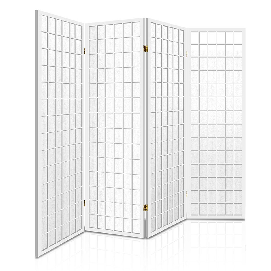 Artiss 4 Panel Wooden Room Divider - White