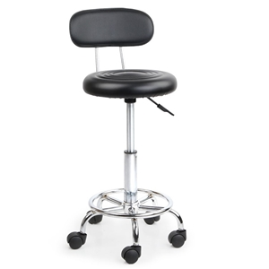 Artiss PU Leather Swivel Chair with Back