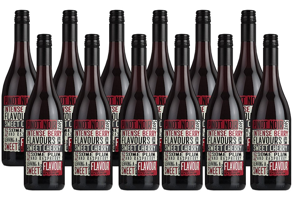 Intense Berry Pinot Noir 2015 (12 x 750mL), Central Otago, NZ.