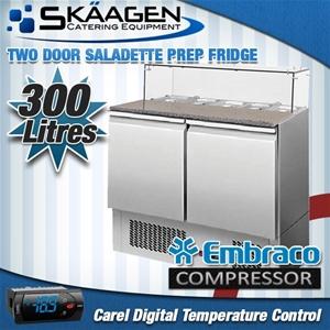 Unused 2 Door Saladette Fridge - ES02-64