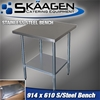 Unused 914mm x 610mm Stainless Steel Bench