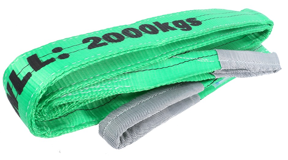 Flat Webb Lifting Sling, WLL 2000kg x 3.5M (with Test Cert). Buyers Note -
