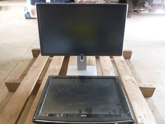 Television and Computer Monitor (2 Items)