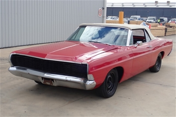 Unreserved 1968 Ford Galaxie XL 500 Convertible