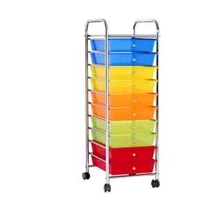 10 Drawer Kitchen Trolley Cart Storage S