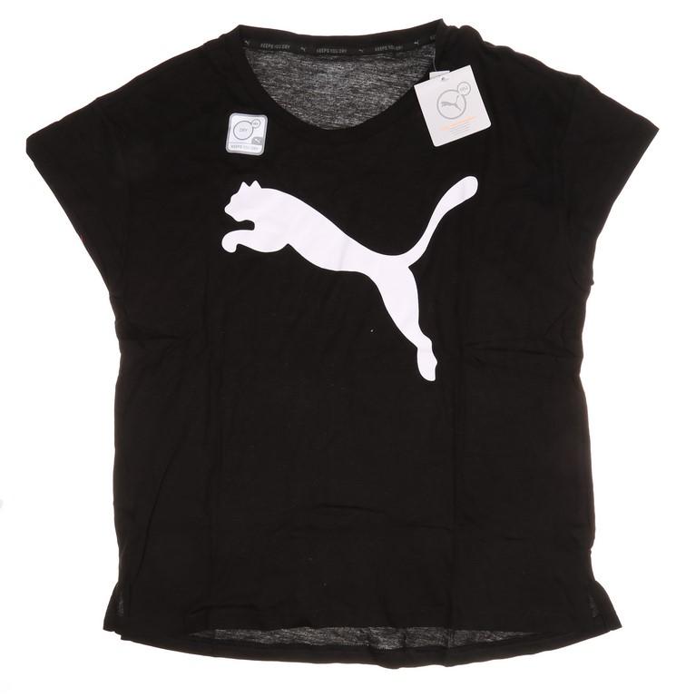 Women`s PUMA Logo Active T-Shirt, Size M, Black. Buyers Note - Discount Fre