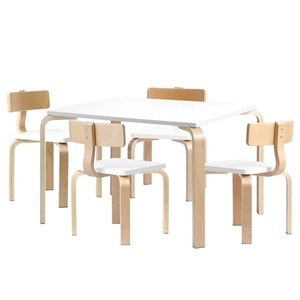 Keezi 5PCS Childrens Table and Chairs Se