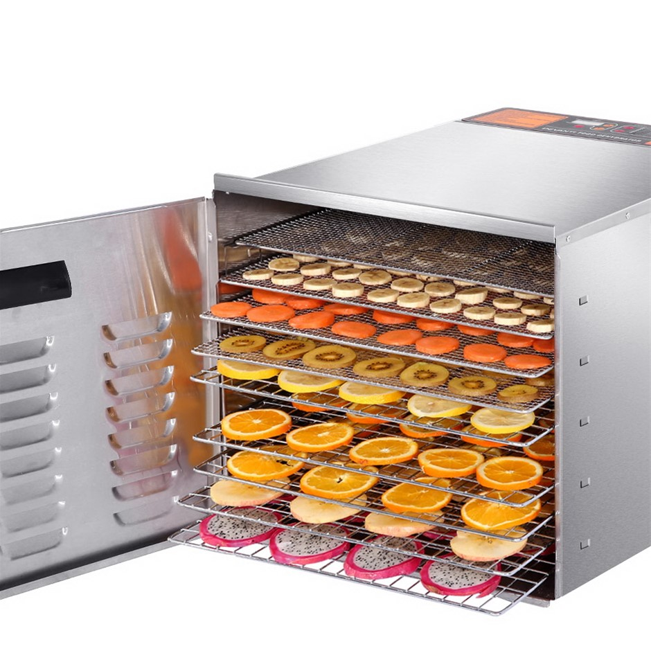 DEVANTI 1000W Food Dehydrator 304 Stainless Steel 10 Tray Fruit Dryer