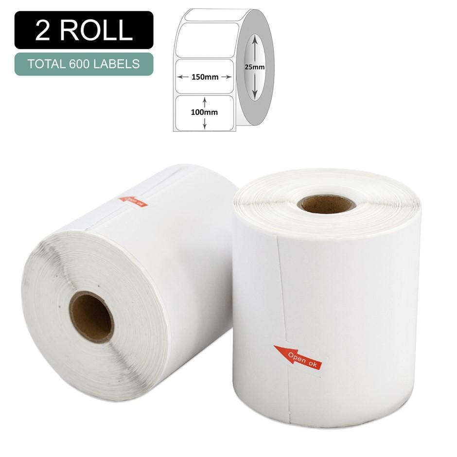 2 Rolls Thermal Label - Core 25mm x 300pcs