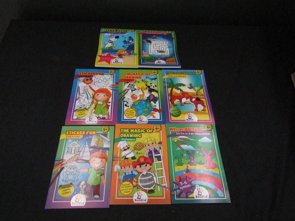 Qty 140 x Book Kid Assorted Activity Books