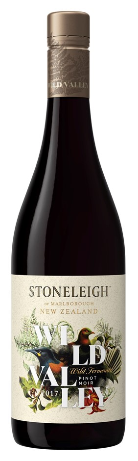 Stoneleigh `Wild Valley` Pinot Noir 2017 (6 x 750mL), Marlborough, NZ
