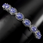 Beautiful Genuine Emerald Ring & Tanzanite Tennis Bracelet