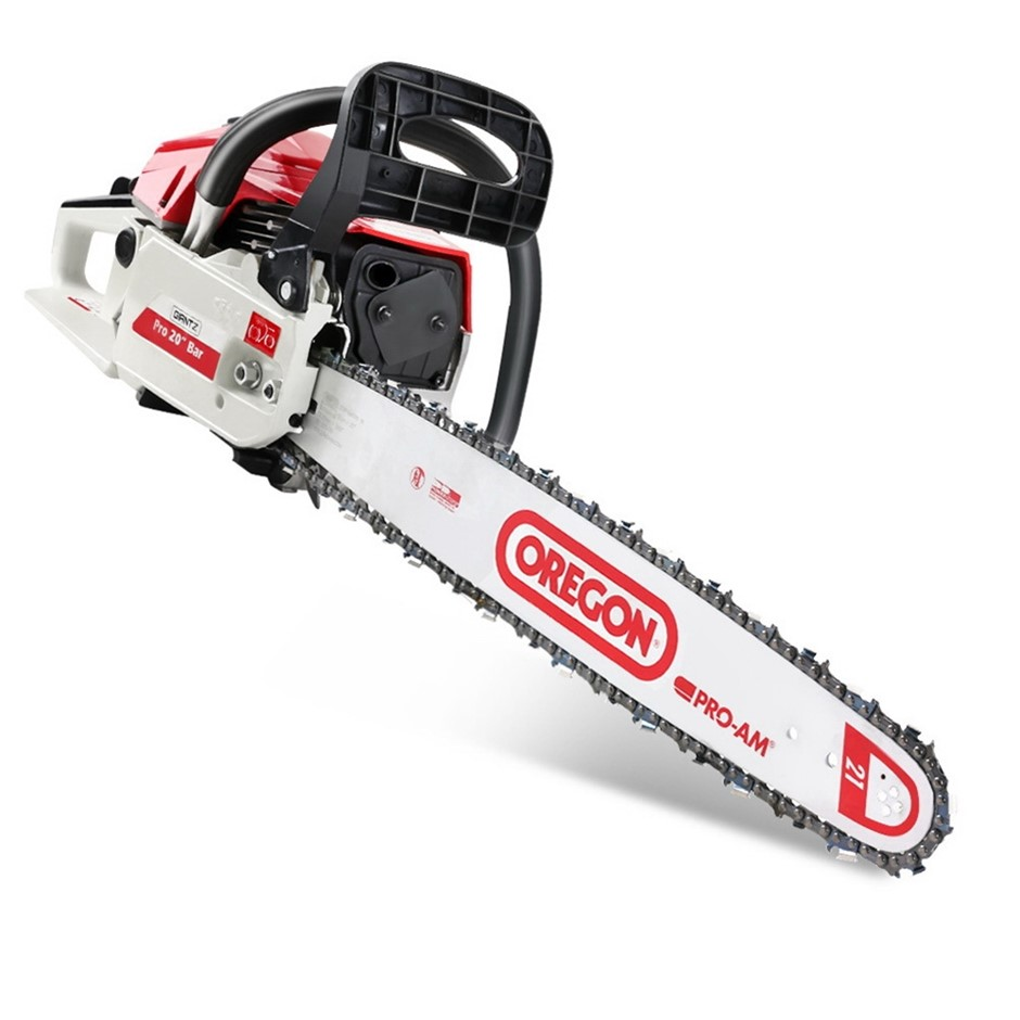 "GIANTZ 62cc Commercial Petrol Chainsaw 20"" Oregon Bar Chains Saw Tree"