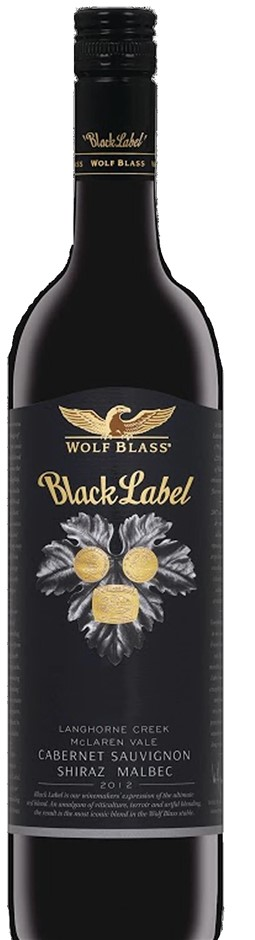 Wolf Blass `Black Label` Cabernet Shiraz Malbec 2012 (3 x 750mL), Screwcap