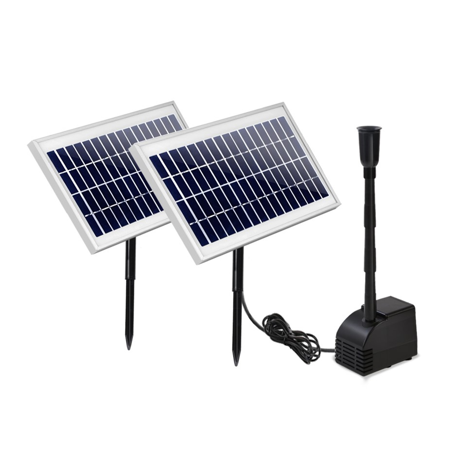 110W Water Solar Pond Pump Kit Garden Outdoor Filter Panel