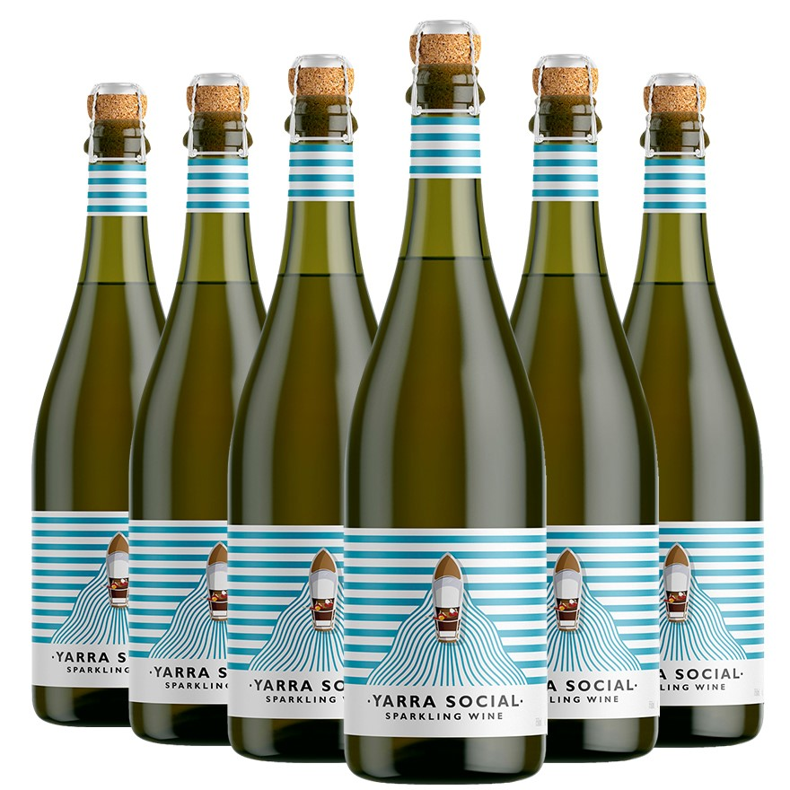 Yarra Social by Yarra Burn Sparkling Wine NV (6 x 750mL), VIC.