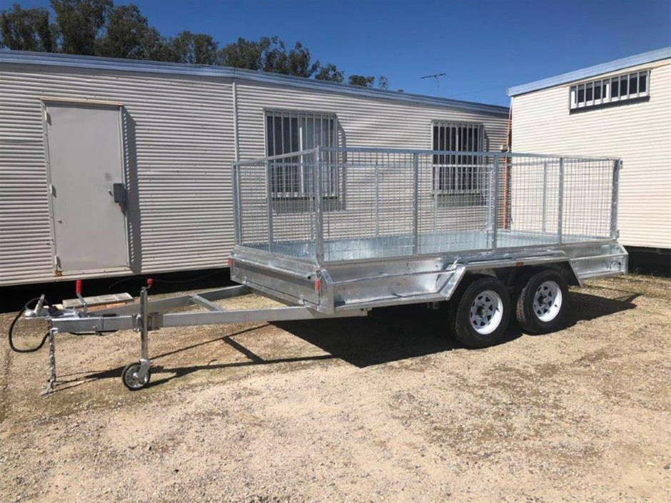 New 2019 Galvanised 12' x 6' Dual Axle Box Trailer
