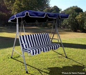 Outdoor Furniture 3 Seater Hanging Swing Chair Love Chair Seat With