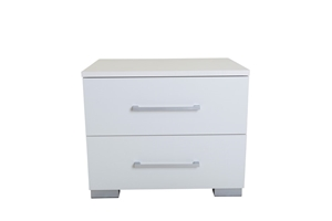 Tarin 2 Drawer Bedside Table - White
