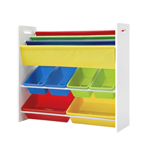 Artiss Kids Bookshelf Toy Box Organizer