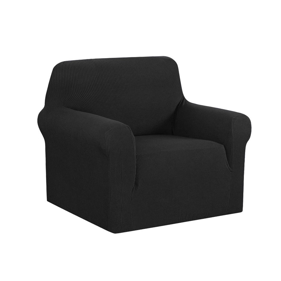 Artiss High Stretch Sofa Lounge Protector Slipcovers 1 Seater Black