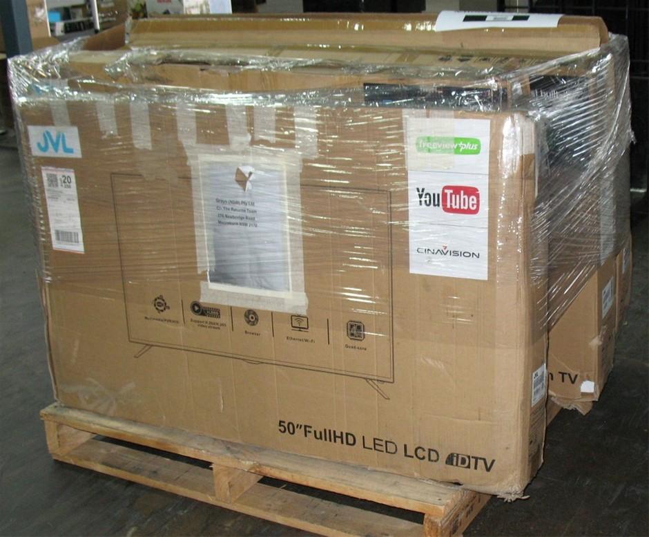Pallet of 6 x assorted faulty return JVL TVs