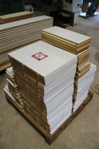 150x Assorted White Melamine particle Board Assorted Sizes R
