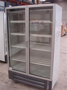 Caravell Double Glass Door Display Fridge Auction 0002