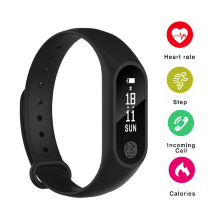 Smart Wristband M2 Health, Sport Bluetooth Bracelet for IOS & Android Phone