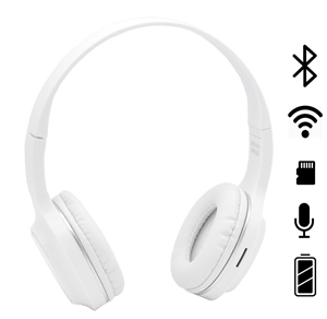 White Rechargeable Wireless Headphone BT