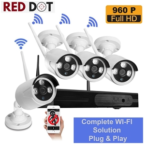 Wireless 4CH Security 960P Camera System