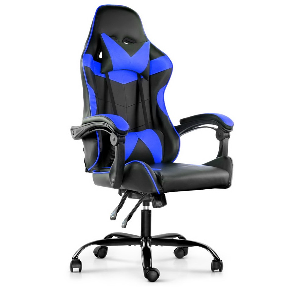 Artiss Gaming Office Chairs Computer Seating Racing Recliner Black Blue