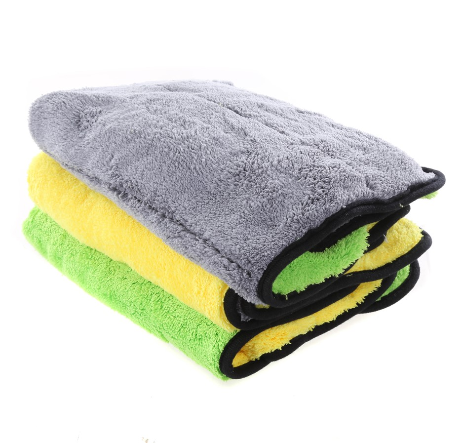6-Pack Double Layered Microfiber Cleaning Cloths, 40 x 60cm 850GSM Super Ab