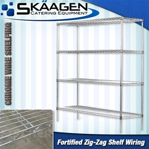 Unused Chrome Wire Shelves CS-900 x 445 x 1800 on