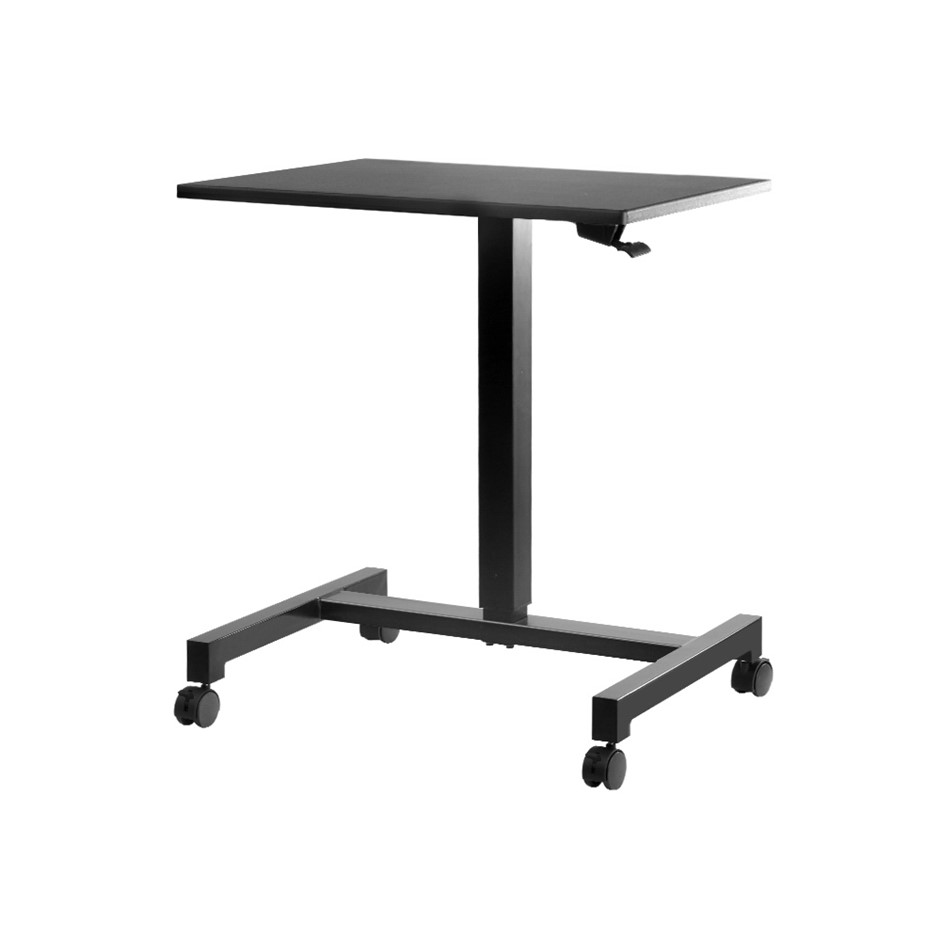 Artiss Mobile Gas Lift Sit Stand Laptop Desk Adjustable Bar Table Black
