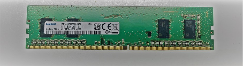 Samsung 4GB DDR4-2400 288pin SDRAM DIMM Single-Sided 4-Chip Memory Module